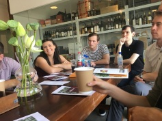 Meeting with wine importers